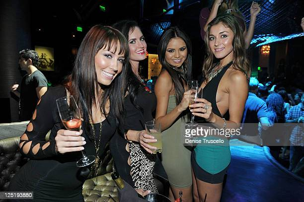 Nicolle Stalic Alex Wagner Janira Kremets and Chelsea DeLeon during the casting for Clifton Shores season 2 at Gallery Nightclub at Planet Hollywood...
