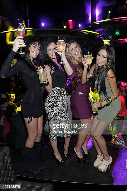 Nicolle Stalic Alex Wagner Whitney Green and Janira Kremets during the casting for Clifton Shores season 2 at Gallery Nightclub at Planet Hollywood...