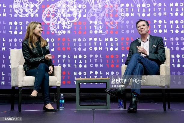 Nicolle Wallace and James Comey speak onstage during the 2019 Politicon at Music City Center on October 26 2019 in Nashville Tennessee
