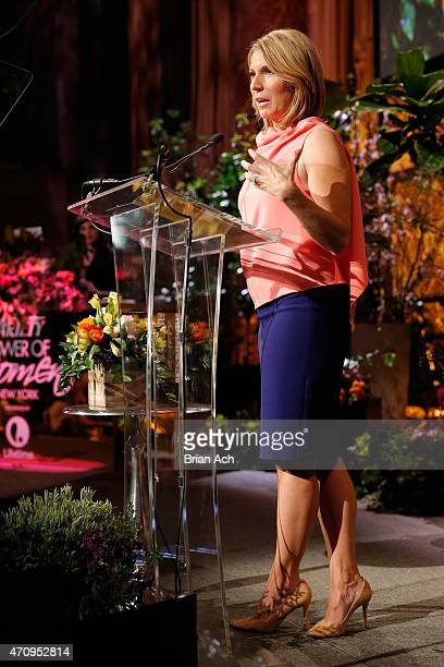 Nicolle Wallace of The View speaks onstage at Variety's Power of Women New York presented by Lifetime at Cipriani 42nd Street on April 24 2015 in New...