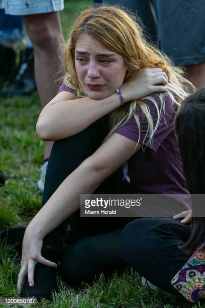 Nicolle Zaruches attends an interfaith ceremony to remember the 17 victims killed at the Marjory Stoneman Douglas High School shooting on the...