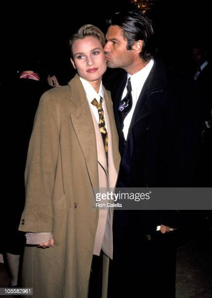 Nicollette Sheridan and Harry Hamlin during Governor's Art Awards at Beverly Hilton Hotel in Beverly Hills California United States