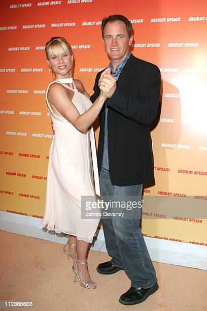 Nicollette Sheridan and Mark Moses during Nicollette Sheridan of 'Desperate Housewives' Host the Launch of ABSOLUT New Flavor APEACH Arrivals at Koi...