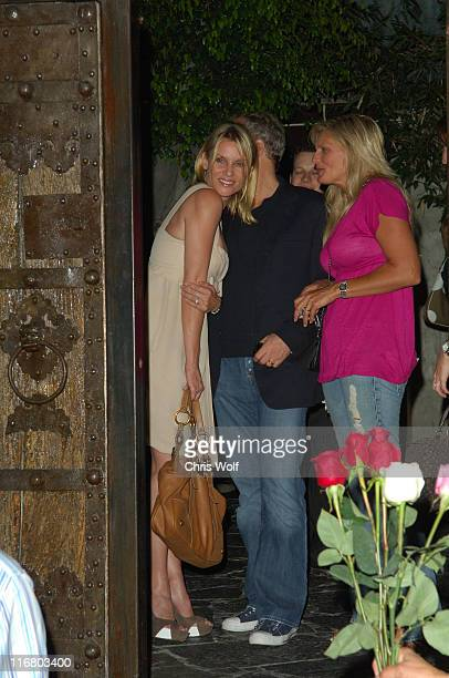 Nicollette Sheridan and Michael Bolton during Celebrity Sightings at Koi April 27 2007 at Koi in Los Angeles California United States