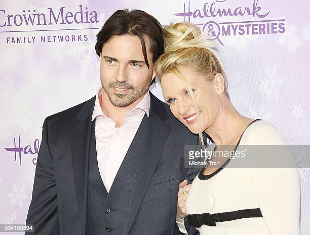 Nicollette Sheridan arrives at Hallmark Channel/Hallmark Movies and Mysteries party during the Winter 2016 TCA press tour held at Tournament House on...