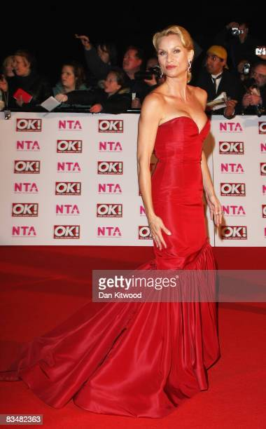 Nicollette Sheridan arrives at the 2008 National Television Awards at The Royal Albert Hall on October 29 2008 in London England