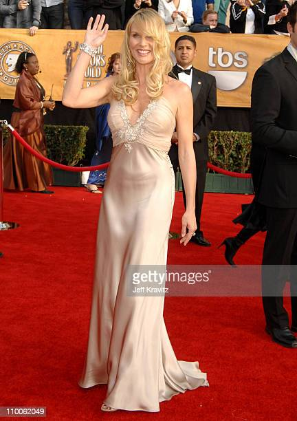 Nicollette Sheridan during 13th Annual Screen Actors Guild Awards Arrivals at Shrine Auditorium in Los Angeles California United States