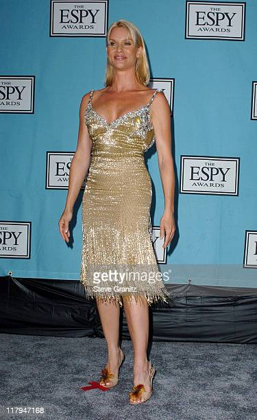 Nicollette Sheridan during 2005 ESPY Awards Press Room at Kodak Theatre in Hollywood California United States