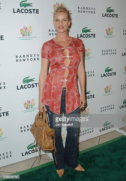 Nicollette Sheridan during LaCoste and Barneys New York Unveil Celebrity Customized Polos at Barneys in Beverly Hills California United States