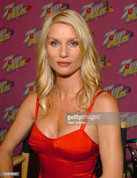 Nicollette Sheridan during Marcia Cross and Nicollette Sheridan CoHost a Premiere Party for Their New 7 UP Plus Commercial Pink Carpet and Inside at...