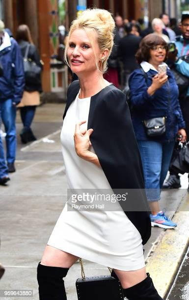 Nicollette Sheridan is seen walking in midtown on May 17 2018 in New York City