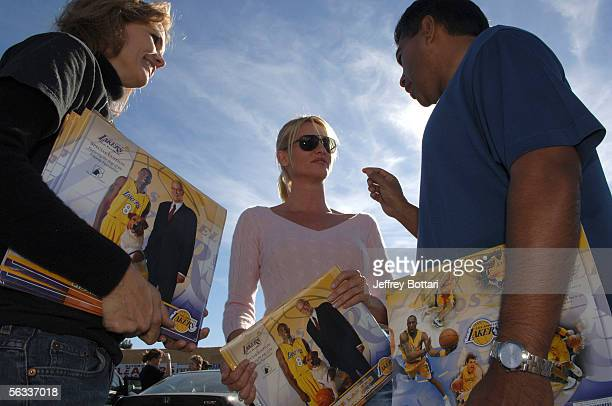 Nicollette Sheridan shows her support for the Amanda Foundation during the LA Lakers Youth Foundation's SpayNPlay event supporting the Lakers/Amanda...