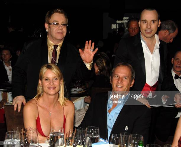 Nicollette Sheridan Sir Elton John Michael Bolton and David Furnish *EXCLUSIVE*
