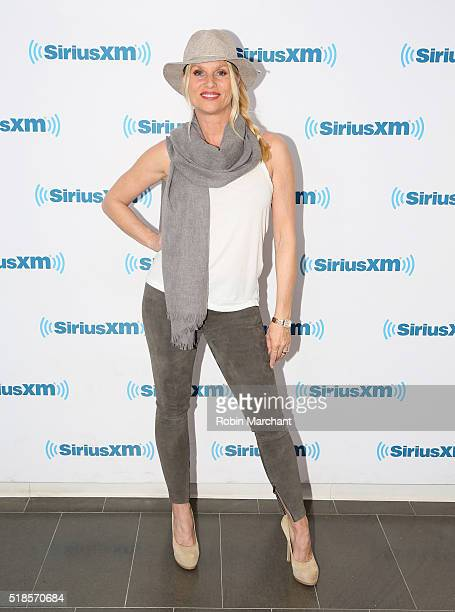 Nicollette Sheridan visits at SiriusXM Studio on April 1 2016 in New York City