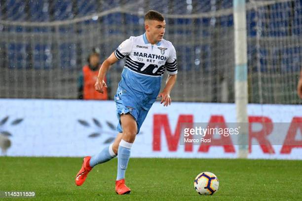 Nicolo' Armini of SS Lazio in action during the Serie A match between SS Lazio and Bologna FC at Stadio Olimpico on May 20 2019 in Rome Italy