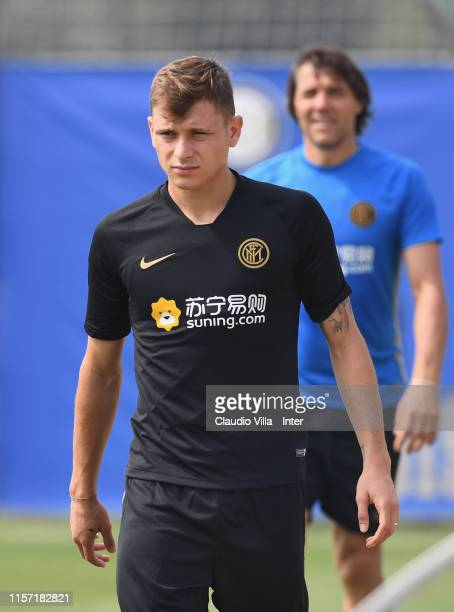 Nicolo Barella of FC Internazionale in action during a training session on July 22 2019 in Nanjing
