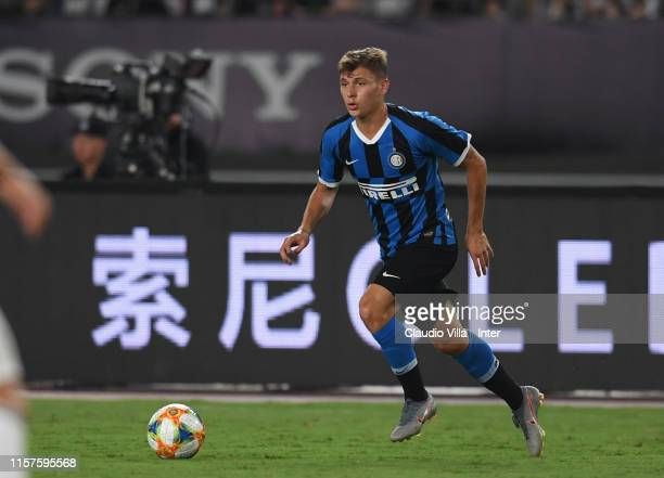 Nicolo Barella of FC Internazionale in action during the International Champions Cup match between Juventus and FC Internazionale at the Nanjing...