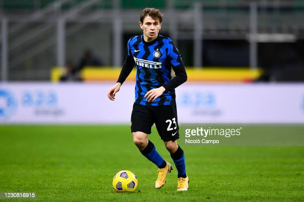 Nicolo Barella of FC Internazionale in action during the Coppa Italia football match between FC Internazionale and AC Milan. FC Internazionale won...