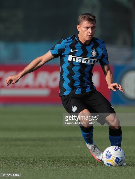 Nicolo Barella of FC Internazionale in action during the PreSeason Friendly match between FC Internazionale and Lugano at the club's training ground...