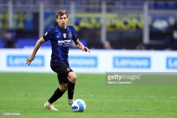 Nicolo Barella of Fc Internazionale in action during the Serie A match between Fc Internazionale and Juventus Fc. The match ends in a tie 1-1.