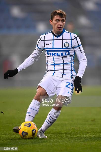 Nicolo Barella of FC Internazionale in action during the Serie A football match between US Sassuolo and FC Internazionale. FC Internazionale won 3-0...