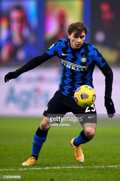 Nicolo Barella of FC Internazionale in action during the Serie A football match between FC Internazionale and Juventus FC. FC Internazionale won 2-0...