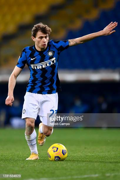 Nicolo Barella of FC Internazionale in action during the Serie A football match between Parma Calcio and FC Internazionale. FC Internazionale won 2-1...