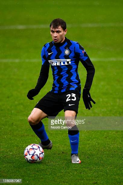 Nicolo Barella of FC Internazionale in action during the UEFA Champions League Group B football match between FC Internazionale and FC Shakhtar...
