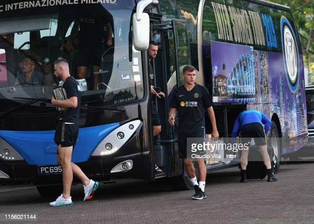 Nicolo Barella of FC Internazionale looks on during a FC Internazionale training session on July 17 2019 in Singapore Singapore