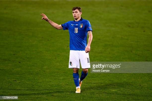Nicolo Barella of Italy gestures during the UEFA Nations League football match between Italy and Poland. Italy won 2-0 over Poland.