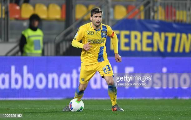 Nicolo Brighenti of Frosinone during the Serie B match between Frosinone and Salernitana at Stadio Benito Stirpe on February 29, 2020 in Frosinone,...