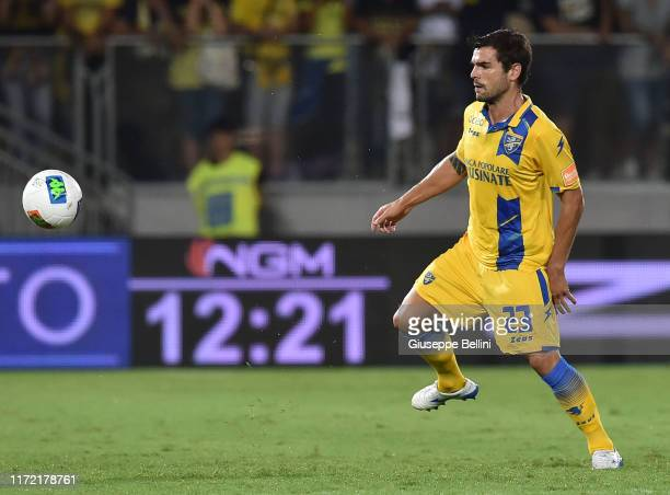 Nicolo' Brighenti of Frosinone in action during the Serie B match between Frosinone and Ascoli Calcio at Stadio Benito Stirpe on September 1, 2019 in...