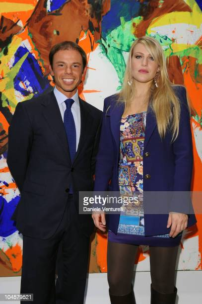Nicolo Cardi and Barbara Berlusconi attend the Cardi Black Box Gallery Opening hosted by Barbara Berlusconi Nicolo Cardi martina Mondadori on...