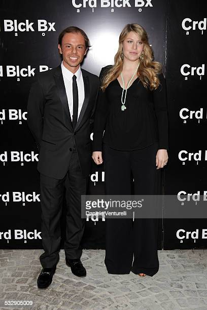 Nicolo Cardi and Barbara Berlusconi attend the Michal Helfman opening exhibition at the Cardi Black Box on April 15 2009 in Milan 2009