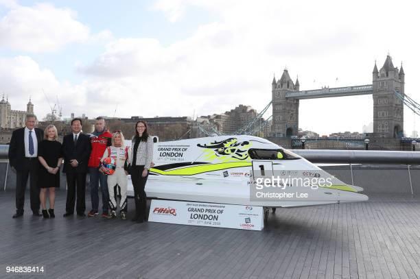 Nicolo di San Germano President of H2O Racing Joanna Jones Commerical Director at London Tech Week lhMr Li Haojie Chairman of Tian Rong Sports...