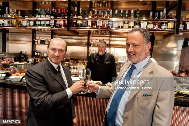 Nicolo Marzotto Owner of Retail Food and of the VyTA brand and Carlo Hausmann Regional Councillor for Agriculture Hunting and Fisheries of the Lazio...