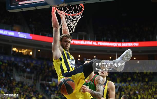 Nicolo Melli #4 of Fenerbahce BEKO Istanbul in action during the 2018/2019 Turkish Airlines EuroLeague Regular Season Round 16 game between...
