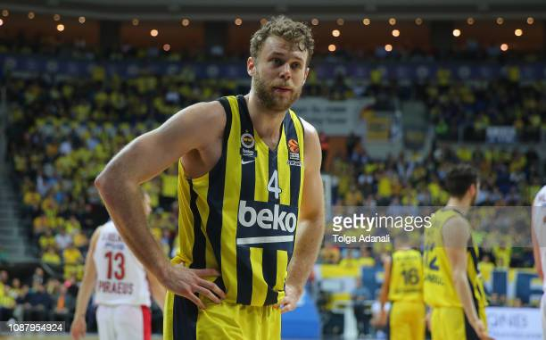 Nicolo Melli #4 of Fenerbahce Beko Istanbul in action during the 2018/2019 Turkish Airlines EuroLeague Regular Season Round 20 game between...
