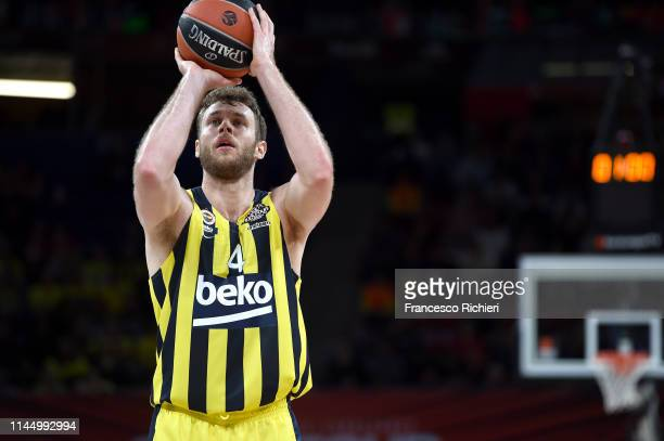 Nicolo Melli #4 of Fenerbahce Beko Istanbul in action during the Turkish Airlines Euroleague Third Place Game Fenerbahce Beko Istanbul v Real Madrid...