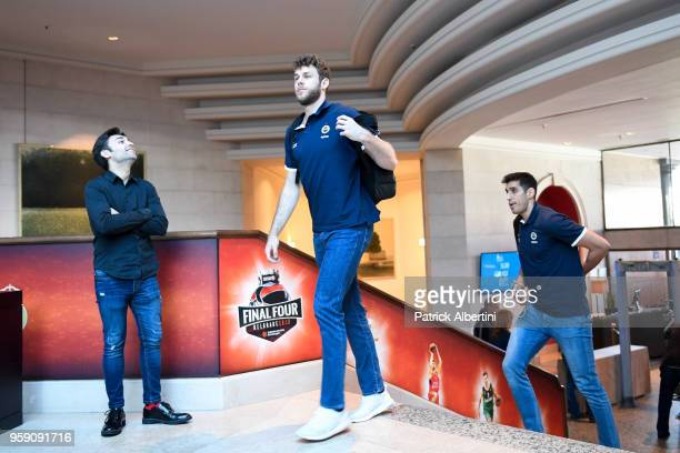 Nicolo Melli #4 of Fenerbahce Dogus Istanbul and Ahmet Duverioglu #44 of Fenerbahce Dogus Istanbul during the Fenerbahce Dogus Istanbul Arrival to...