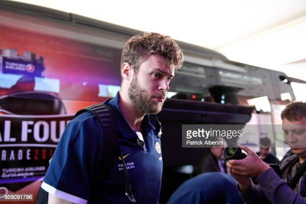 Nicolo Melli #4 of Fenerbahce Dogus Istanbul during the Fenerbahce Dogus Istanbul Arrival to participate of 2018 Turkish Airlines EuroLeague F4 at...
