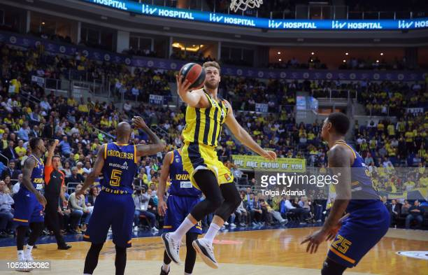 Nicolo Melli #4 of Fenerbahce Istanbul in action during the 2018/2019 Turkish Airlines EuroLeague Regular Season Round 2 game between Fenerbahce...