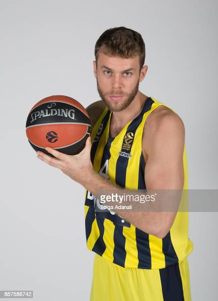 Nicolo Melli #4 poses during Fenerbahce Dogus Istanbul 2017/2018 Turkish Airlines EuroLeague Media Day at Ulker Sports Arena on October 2 2017 in...