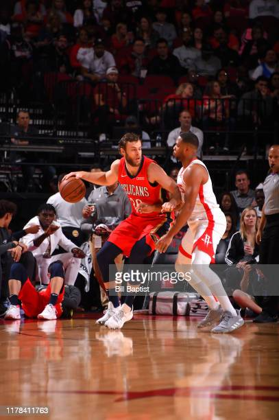 Nicolo Melli of the New Orleans Pelicans handles the ball against the Houston Rockets on October 26 2019 at the Toyota Center in Houston Texas NOTE...
