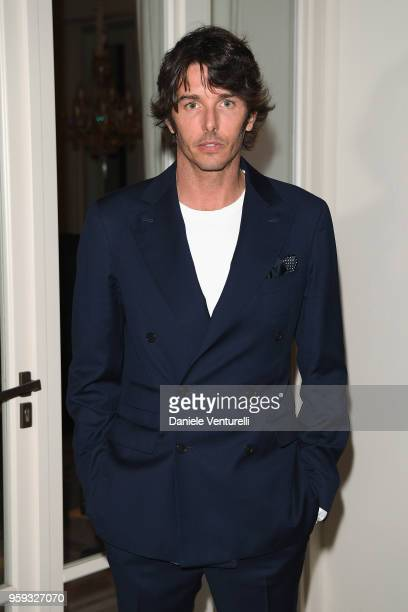 Nicolo Oddi attends the Montblanc dinner hosted by Charlotte Casiraghi for the collection launch 'Les Aimants at Villa La Favorite on May 16 2018 in...