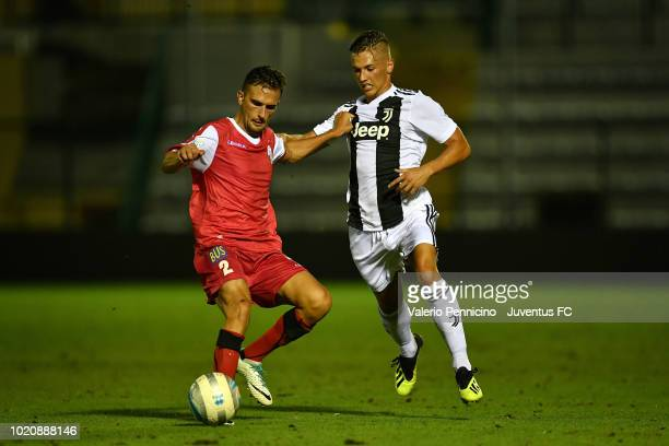 Nicolo Pozzebon of Juventus U23 competes during the Coppa Italia Serie C match between Juventus U23 and Cuneo at Moccagatta Stadium on August 21 2018...