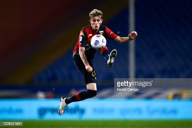Nicolo Rovella of Genoa CFC in action during the Serie A football match between UC Sampdoria and Genoa CFC. The match ended 1-1 tie.