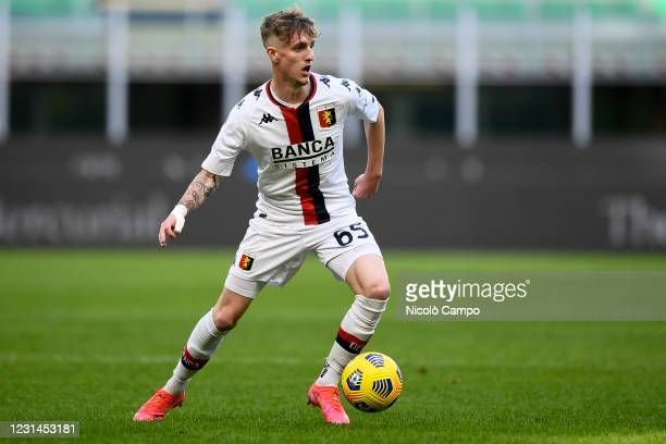 Nicolo Rovella of Genoa CFC in action during the Serie A football match between FC Internazionale and Genoa CFC. FC Internazionale won 3-0 over Genoa...