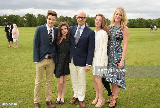 Nicolo Tucci Camilla Tucci Stanley Tucci Isabel Tucci and Suzanna Blunt attend day two of the Audi Polo Challenge at Coworth Park on May 31 2015 in...