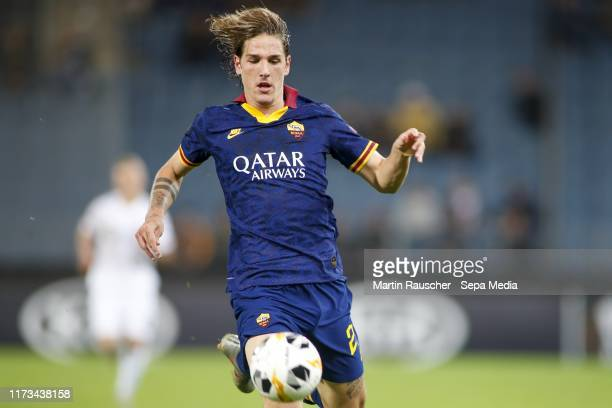 Nicolo Zaniolo of AS Roma during the UEFA Champions League group J match between Wolfsberger AC v AS Roma at Merkur Arena on October 3 2019 in Graz...